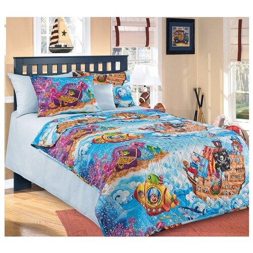 Фото - Покрывало Текс-Дизайн Пираты 140х200 см, голубой/желтый/красный покрывало текс дизайн шанталь 140х210 см голубой