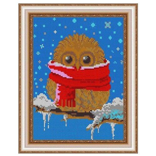 Светлица Набор для вышивания бисером Зимняя совушка 19 х 24 см, бисер Чехия (493П)