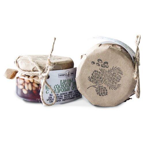 Варенье Таёжный Тайник из сосновых шишек с кедровым орехом, банка 120 г фото