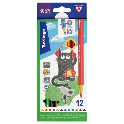Фото - Berlingo Карандаши цветные SuperSoft Жил-был кот 12 цветов (SS00512) berlingo карандаши цветные пластиковые цирк 18 цветов cp 04812