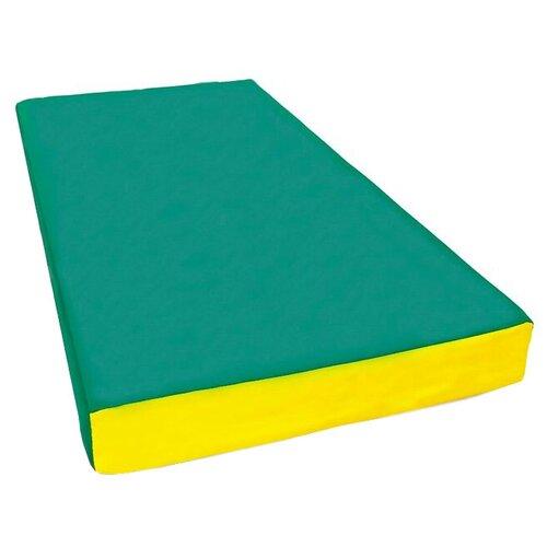Спортивный мат 1000х500х100 мм КМС № 1 зелёно/жёлтый