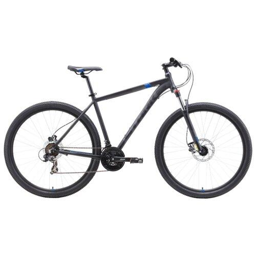 Горный (MTB) велосипед STARK Hunter 29.2 HD (2019) серый/черный/синий 18 (требует финальной сборки)
