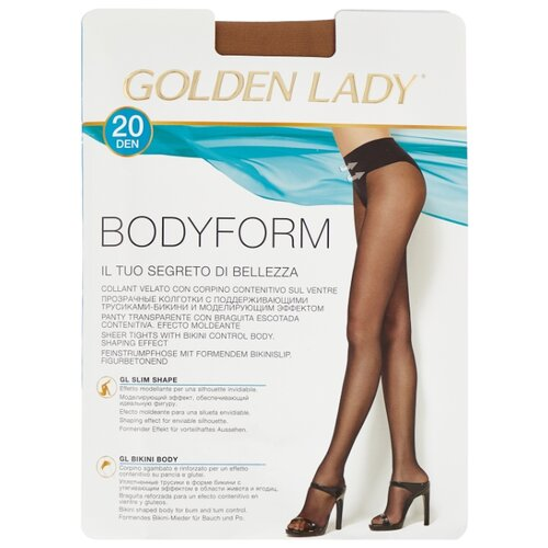 Колготки Golden Lady Bodyform 20 den, размер 2-S, melon (бежевый) колготки golden lady mara 20 den размер 6 xxl melon бежевый