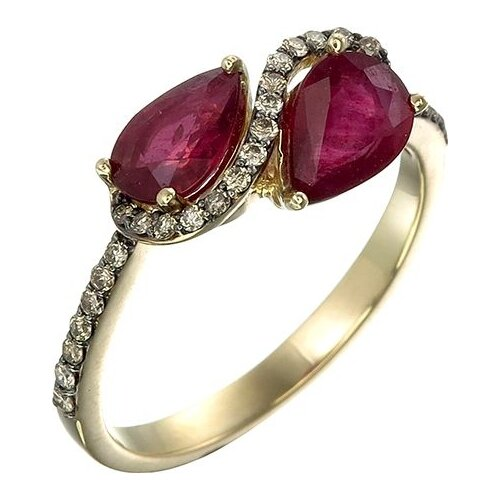 Фото - Sargon Jewelry Кольцо с рубинами и бриллиантами из жёлтого золота R1088-2023, размер 17 sargon jewelry кольцо с изумрудом и бриллиантами из жёлтого золота r1312 2010 размер 16 5