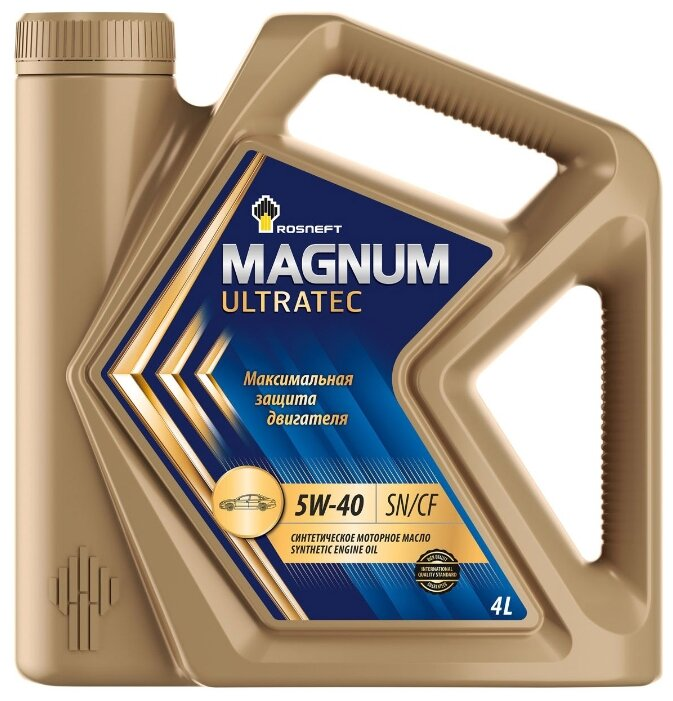 Масло моторное синтетическое Rosneft Magnum Ultratec 5W40 4 л 40815442