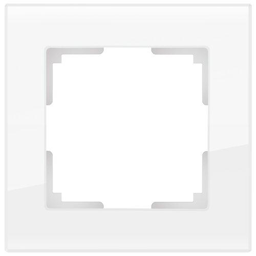 Рамка 1п Werkel WL01-Frame-01, белый рамка 1п werkel wl01 frame 01 dbl белый