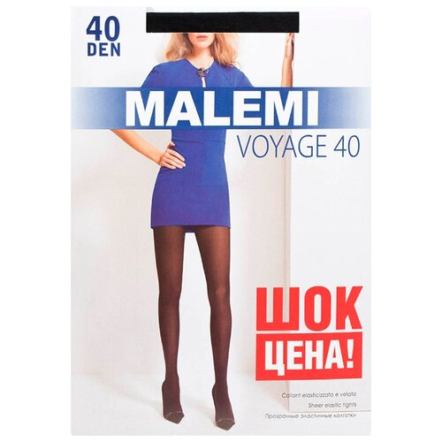 Колготки Malemi Voyage, 40 den, размер II, nero (черный) колготки malemi voyage 20 nero