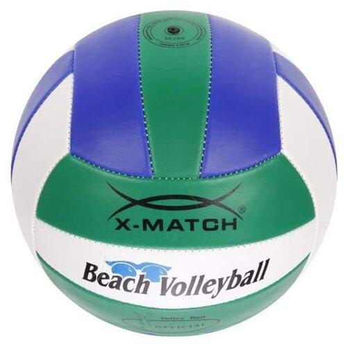 Волейбольный мяч X-Match Beach Volleyball 56298 зеленый/синий/белый