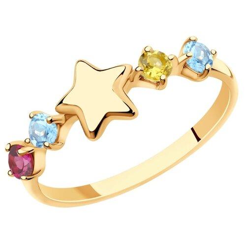 SOKOLOV Кольцо из золота с полудрагоценными вставками 715912, размер 17 по цене 12 790