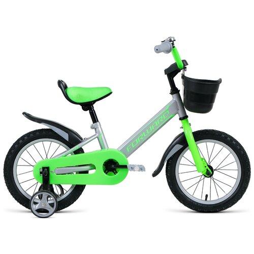 Детский велосипед FORWARD Nitro 14 (2020) серый (требует финальной сборки) детский велосипед forward nitro 18 2020 оранжевый белый требует финальной сборки
