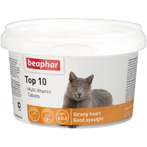 Фото - Добавка в корм Beaphar Top 10 Multi Vitamin для кошек 180 таб. добавка в корм beaphar salvikal
