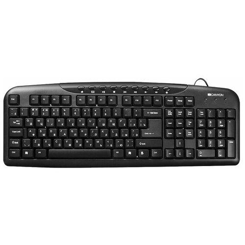 Клавиатура Canyon CNE-CKEY2-RU Black USB