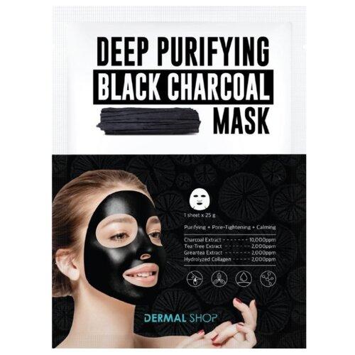 DERMAL Shop Deep Purifying Black Charcoal Mask Глубоко очищающая маска с древесным углем, 25 г недорого