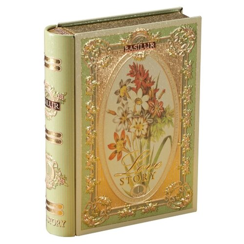 Чай зеленый Basilur Tea book Love story Volume I подарочный набор , 100 г