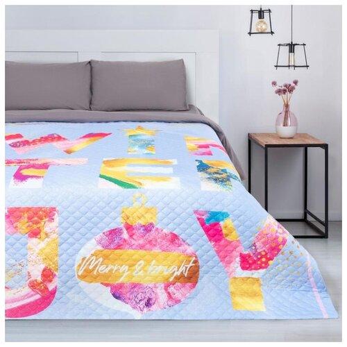 Фото - Покрывало Этель 2-спальное, Winter Joy, 180*220 см, микрофибра этель комплект постельного белья этель red planet 2 спальное