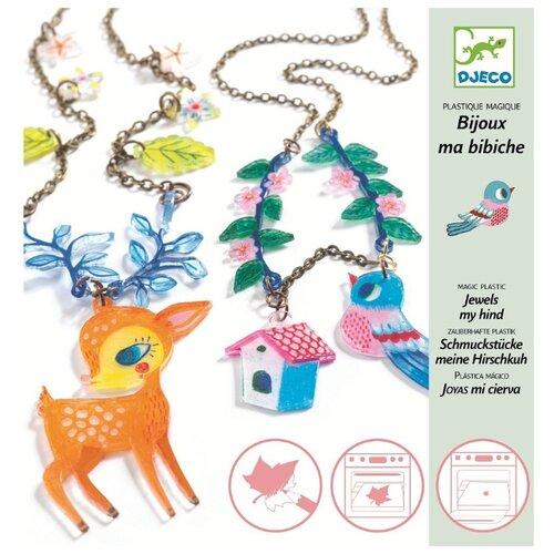Купить DJECO Набор для создания украшений Лань и Птица (09494), Наборы для создания украшений
