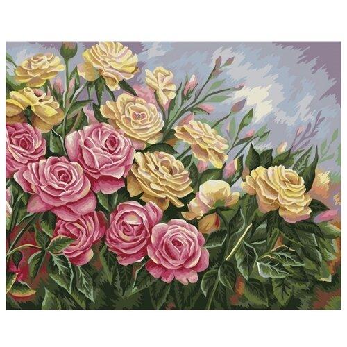 Купить Рисование по номерам на холсте Розы. Жанна Когай , Фабрика творчества, Картины по номерам и контурам