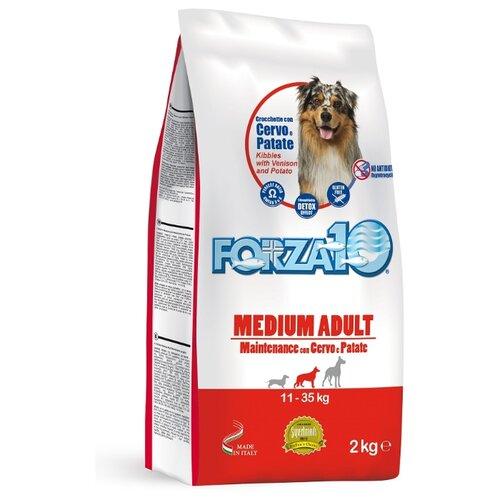 Сухой корм для собак Forza10 оленина с картофелем 2 кг (для средних пород)