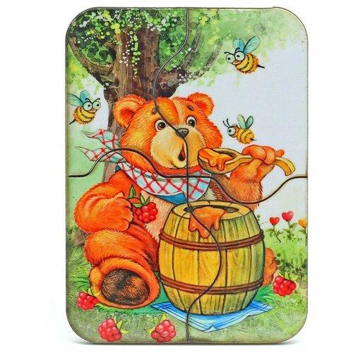 Пазл Мастер игрушек Медвежонок и мед (IG0042), 4 дет., Пазлы  - купить со скидкой