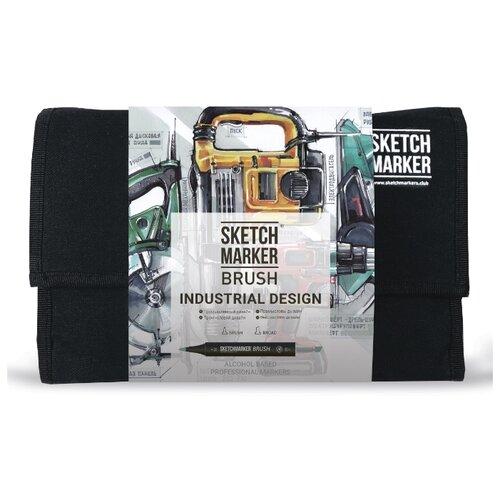 Купить SketchMarker Набор маркеров Brush Industrial Design, 24 шт., Фломастеры и маркеры