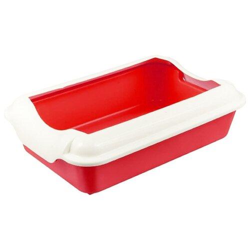 Туалет-лоток для кошек Homecat 3519745/3519721/3519684/3519769/3519707/3519721_оливковый 37х27х11.5 см красный 1 шт.