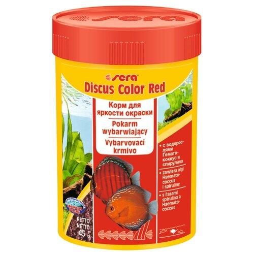 Сухой корм для рыб Sera Discus Color Red 100 мл 45 г sera sera fd mixpur корм для рыб сублимированный мотыль трубочник дафния криль 100 мл