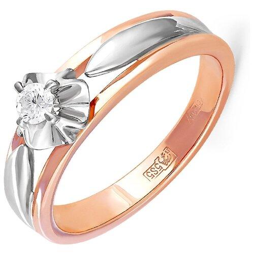 KABAROVSKY Кольцо с 1 бриллиантом из красного золота 11-0298-1000, размер 16 kabarovsky кольцо с 1 бриллиантом из красного золота 1 0336 1000 размер 16 5
