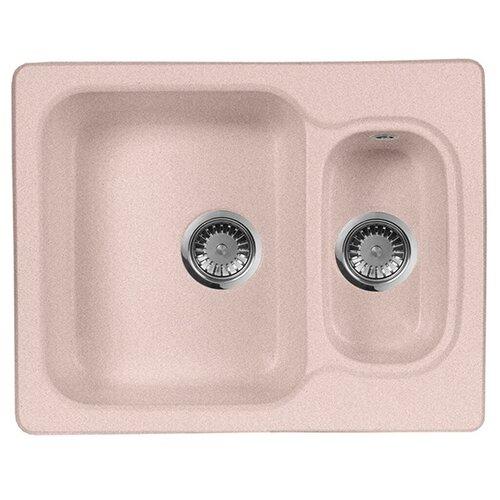 Фото - Врезная кухонная мойка 61 см А-Гранит M-09 розовый врезная кухонная мойка 61 см а гранит m 09 песочный