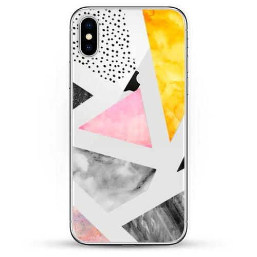 Силиконовый чехол Мраморные треугольники на Apple iPhone X
