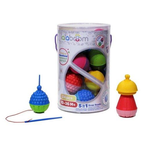 Купить Развивающая игрушка lalaboom 5 в 1 24 предмета разноцветный, Развитие мелкой моторики