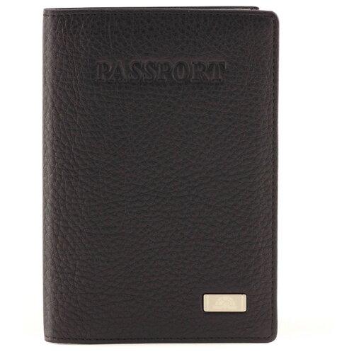 Обложка для паспорта Tony Perotti Contatto, мужская, натуральная кожа, чёрный 70