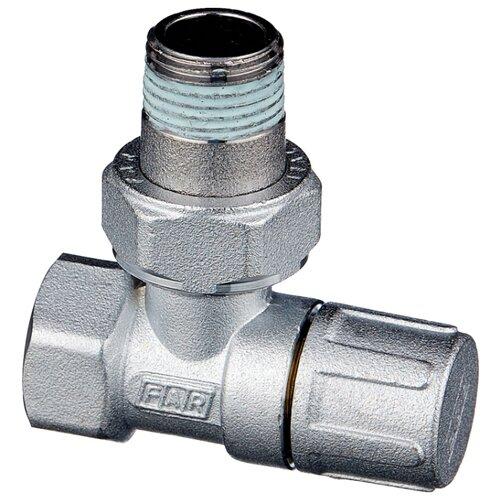 Фото - Запорный клапан FAR FV 1200 муфтовый (ВР/НР), латунь, для радиаторов Ду 15 (1/2) запорный клапан far ft 1616 муфтовый нр нр латунь для радиаторов ду 15 1 2