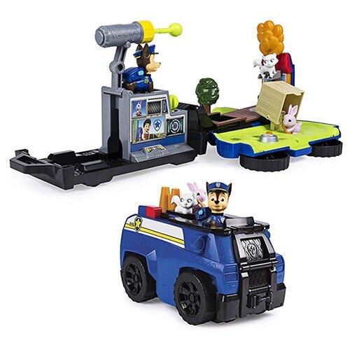 Игровой набор Spin Master Paw Patrol Спасательная станция - трансформер Чейз 6046797-Cha paw patrol 16601 cha щенячий патруль машинка спасателя и щенок чейз в ассортименте