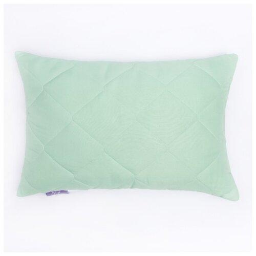 Подушка KUPU-KUPU Бамбук, Латекс, высокая, 50*68 см, зеленый, бамбуковое волокно-натуральный латекс, микрофибра, полиэстер 100%