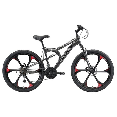 """Горный (MTB) велосипед Black One Totem FS 26 D FW (2021) серый/черный/серый 18"""" (требует финальной сборки)"""