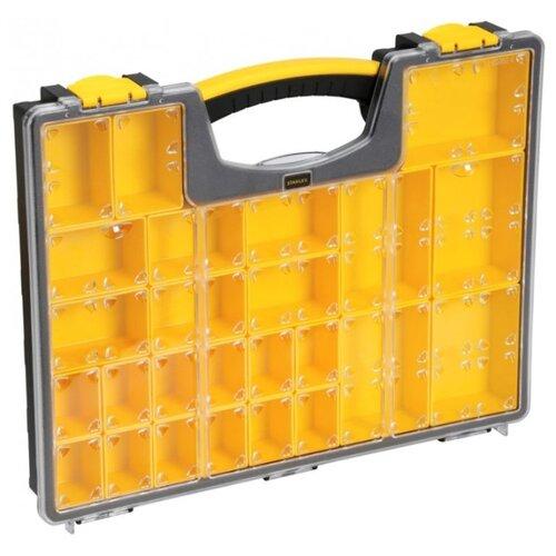 Органайзер STANLEY 1-92-748 42.2x33.4x5.2 см черный/желтый органайзер профессиональный stanley с 25 тью съемными отделениями 1 92 748