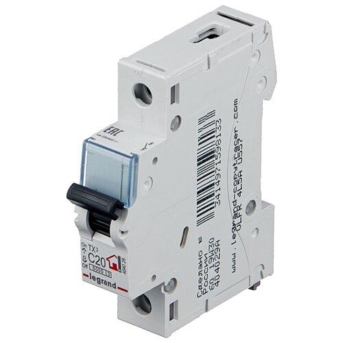 Автоматический выключатель Legrand TX3 1P (C) 6kA 20 А
