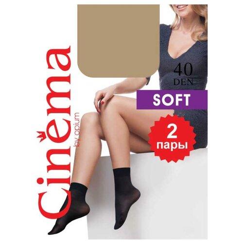Капроновые носки Cinema Soft 40 den 2 пары Opium, one size, naturel гольфы cinema by opium soft 20den naturel 2 пары