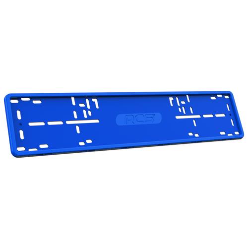 Рамка для номера RCS Силиконовая синий