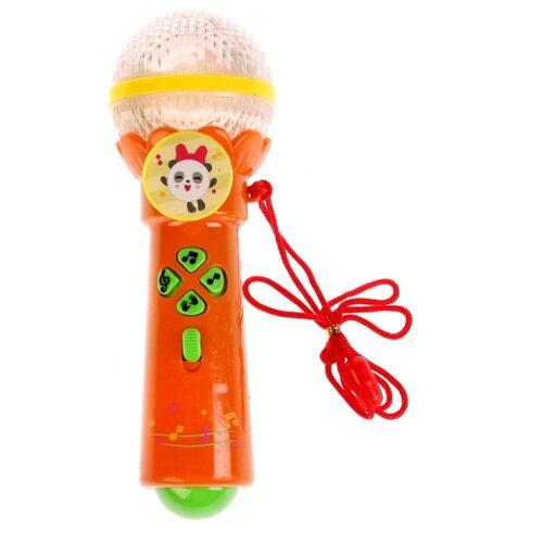 Купить Умка микрофон Малышарики B1252960-R6 оранжевый/зеленый/желтый, Детские музыкальные инструменты