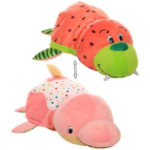 Мягкая игрушка 1 TOY Вывернушка Ням-Ням Морж-Дельфин с ароматом 40 см
