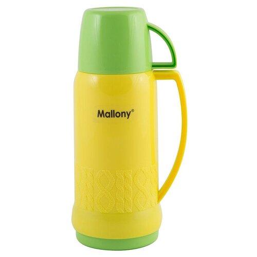Классический термос Mallony Fiala, 0.45 л желтый/салатовый