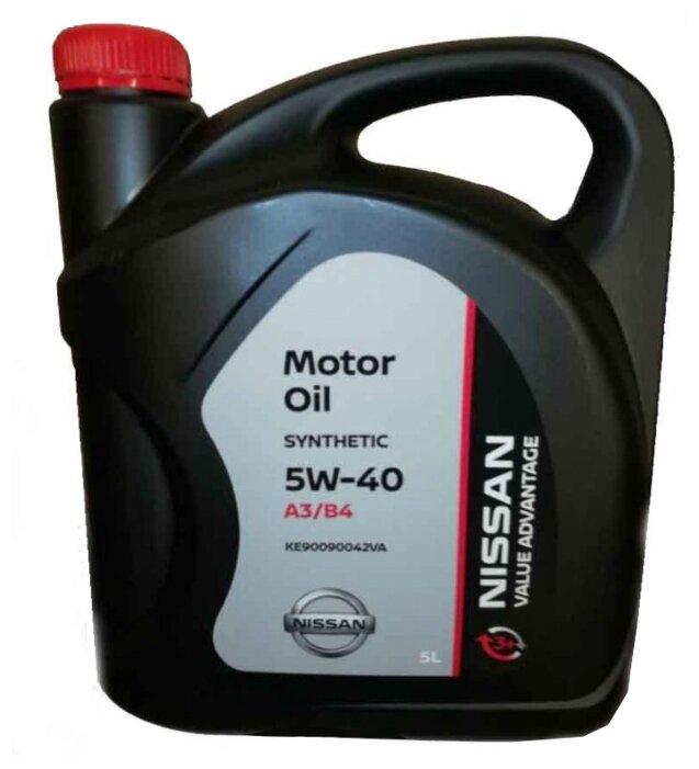 Моторное масло Nissan 5W40 Value Advantage 5 л
