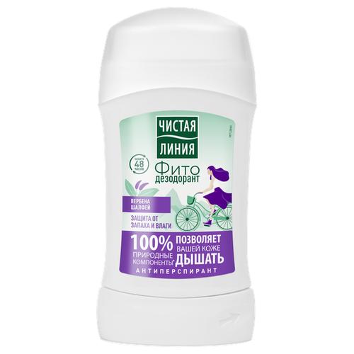 Чистая линия дезодорант-антиперспирант, стик, Защита от запаха и влаги, 40 мл