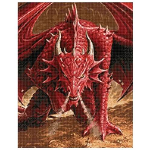 Купить Гранни Набор алмазной вышивки Ярость дракона (Ag 141) 38х48 см, Алмазная вышивка
