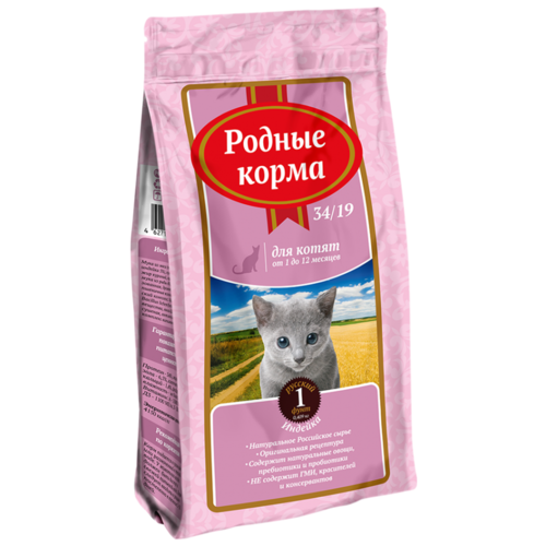 Сухой корм для котят Родные корма с индейкой 409 г