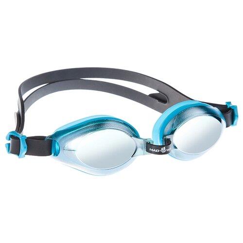 Очки для плавания MAD WAVE Aqua Mirror azure очки для плавания mad wave aqua pink white