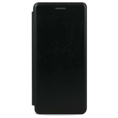 Кожаный чехол для Xiaomi Redmi 7 и Redmi Y3 / Чехол Книжка на Сяоми Редми 7 и Редми У3 с кармашком для карт (Черный)