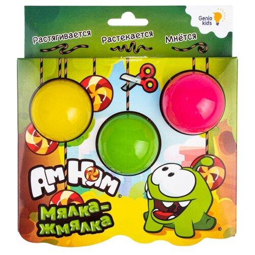 Лизун Genio Kids Ам-Ням Мялка-жмялка желтый/зеленый/розовый