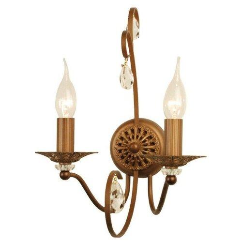 Настенный светильник Citilux Марлен CL411321, E14, 120 Вт, кол-во ламп: 2 шт., цвет арматуры: коричневый настенный светильник citilux медея cl436321 120 вт